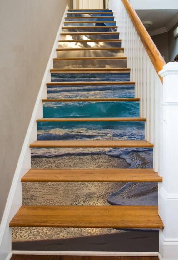 Beginning Of A Perfect Day Etsy Stairs Stairways Stair Riser Decals