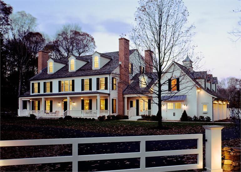 Colonial Exterior Front Dusk Lighting Home Sweet Home In 2019 House House Styles House Plans