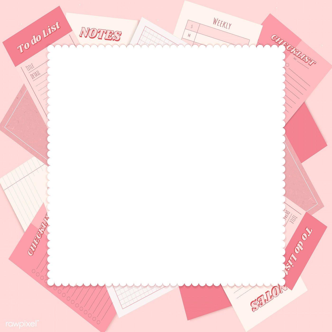 Download Premium Illustration Of Pink Notepad Planner Set Vector
