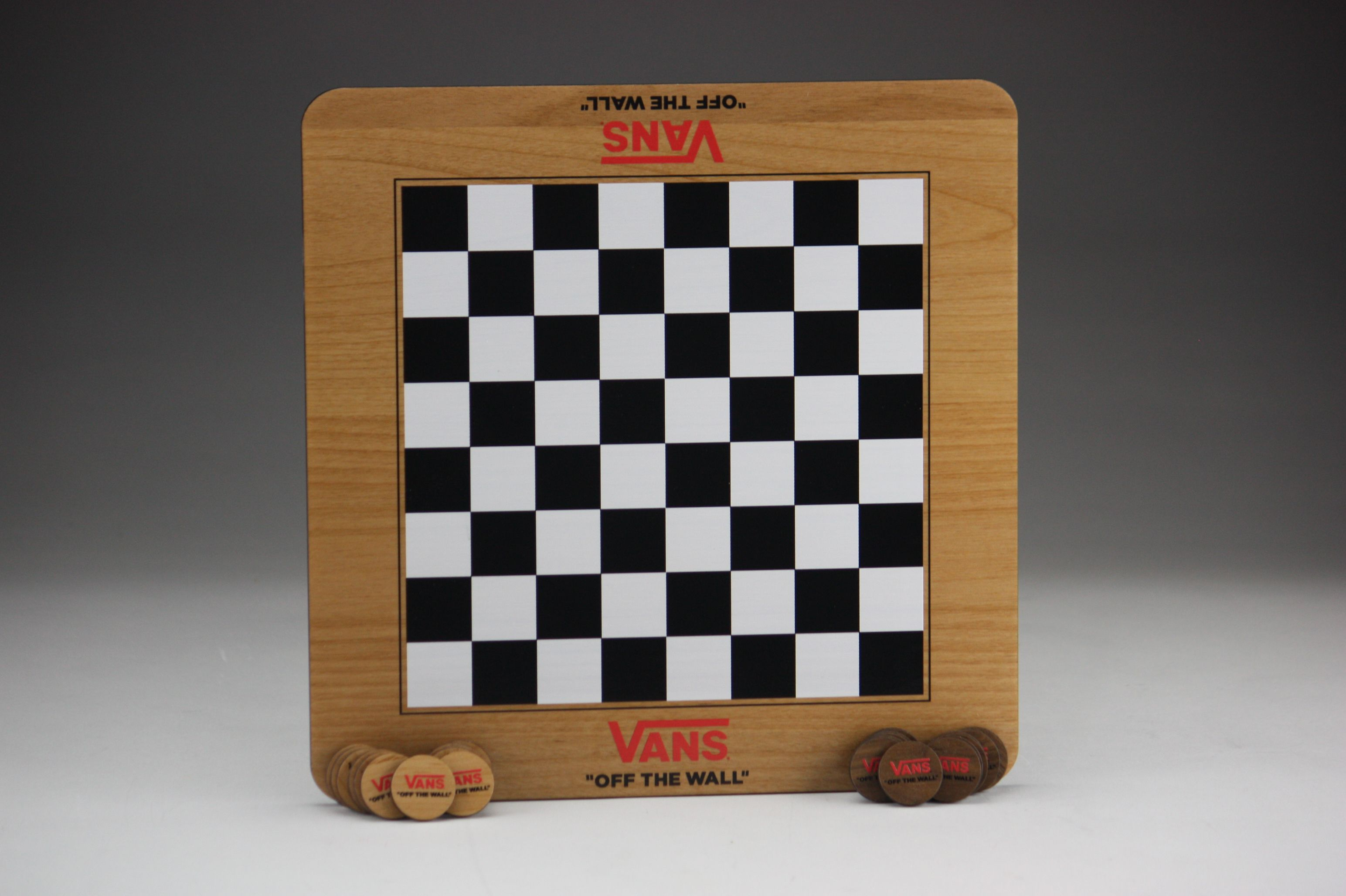We Love Vans Shoes So Were Psyched To Make These Wooden Checkerboards For Them Wood Games Checkers Checkerboard How To Memorize Things Custom Wood Games Pictures of a checker board