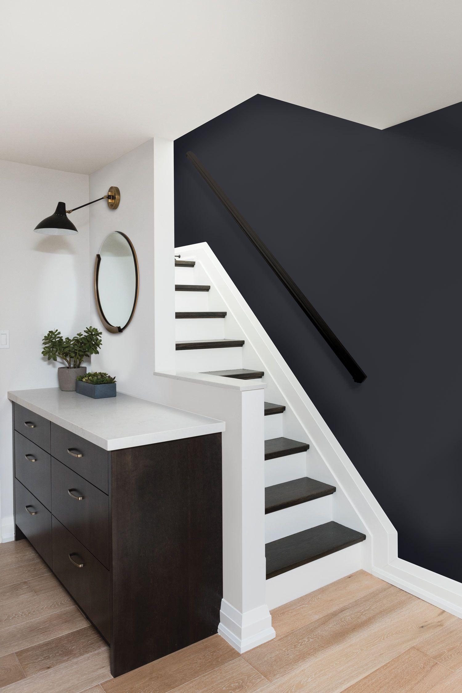 Peinture Escalier Noir Mat Épinglé sur intérieur