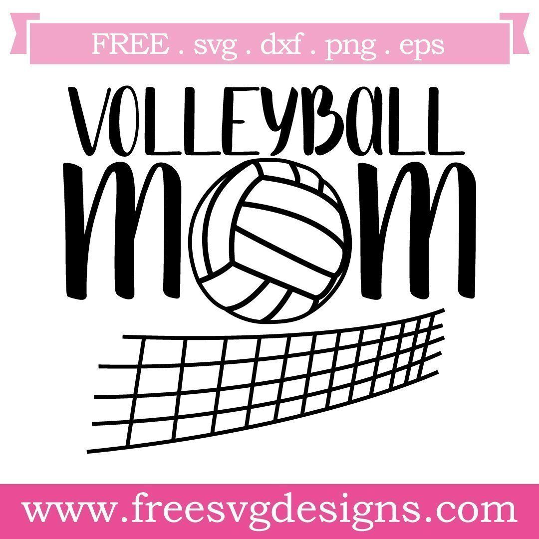 Free Volleyball Svg Files At Www Freesvgdesigns Com Our Free Downloads Includes Otf Ttf Svg Png And Dxf Fil Svg Free Files Free Silhouette Designs Free Svg
