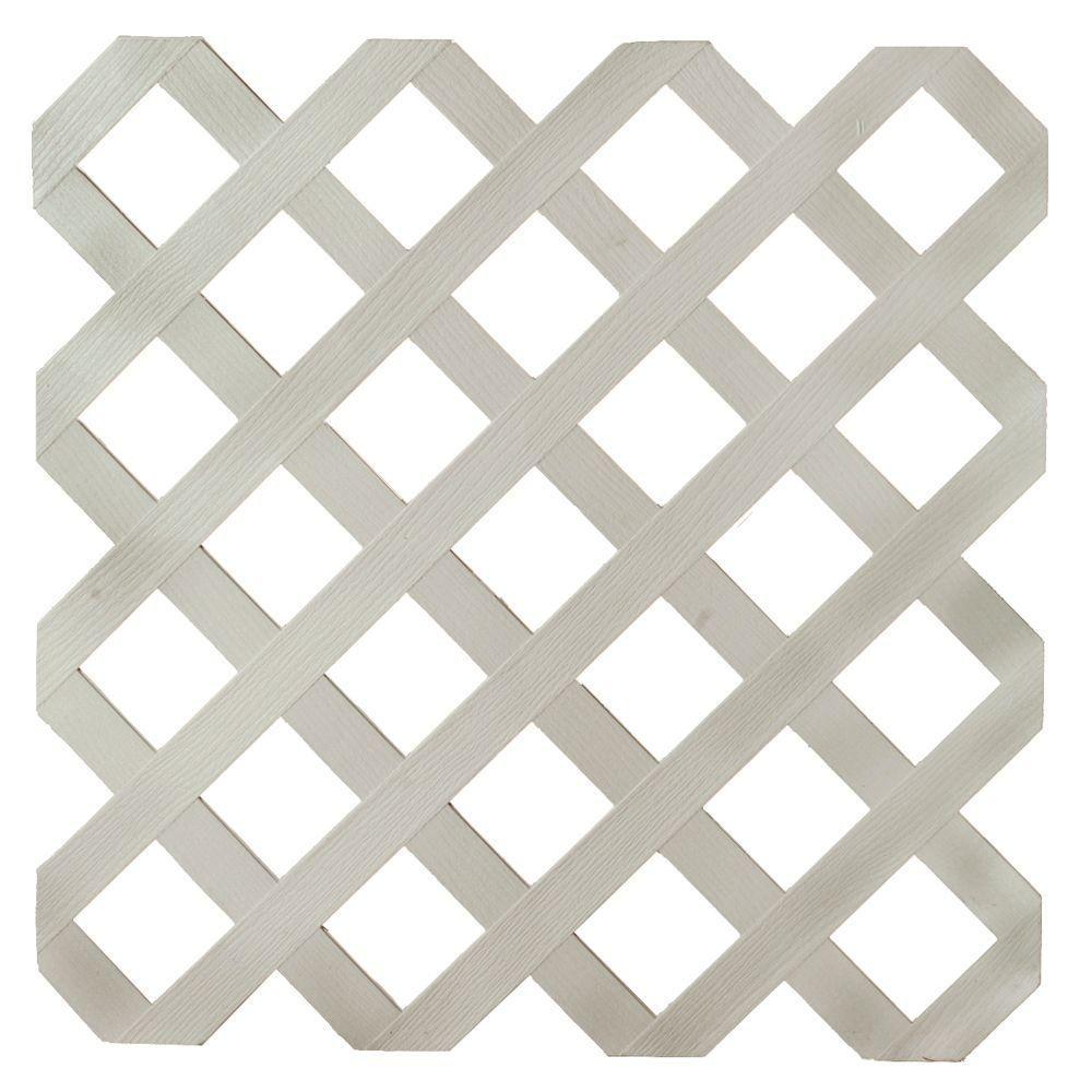 0 2 In X 48 In X 8 Ft Driftwood Gray Plastic Lattice Plastic Lattice Lattice White Vinyl