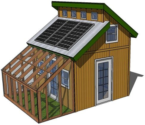 Tiny Eco House Plans - by Keith Yost Designs   Yard   Pinterest ...