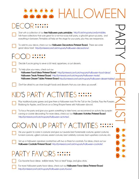 My Printable Halloween Party Planning Guide | Party Planning