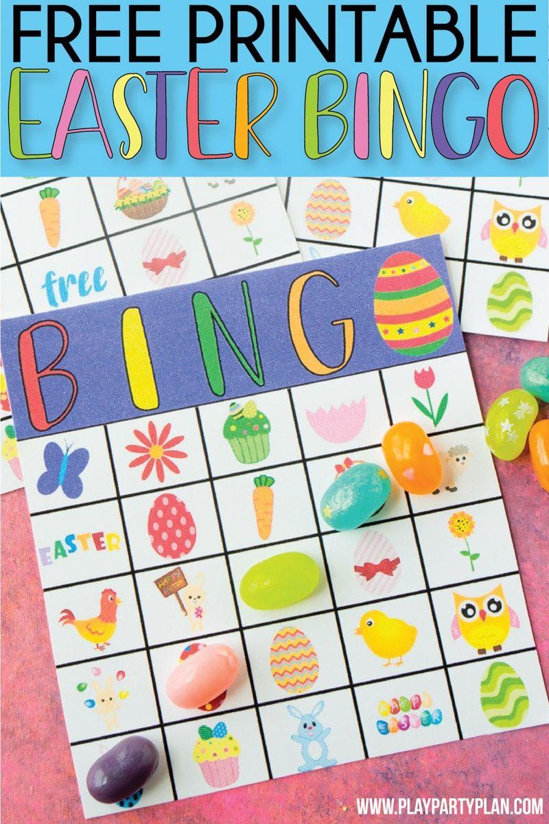 Free Printable Easter Bingo Cards Easter bingo