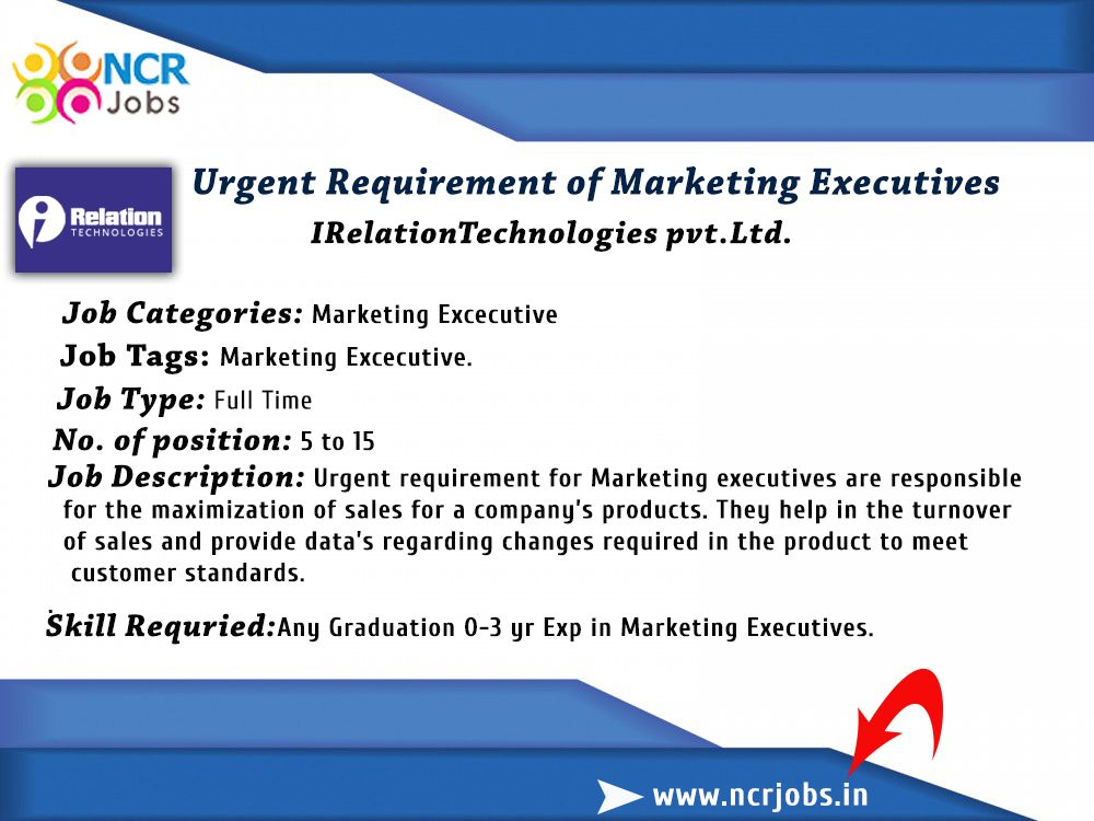 Great Opportunity For Fresher Urgent Requirement Of Marketing
