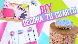 ideas de decorar tu cuarto - YouTube