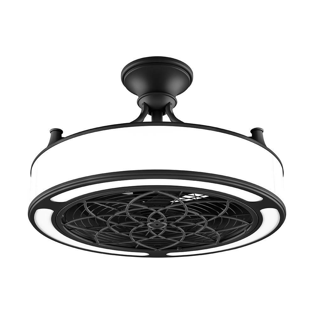 Anderson 22 In Indoor Outdoor Ceiling Fan Light In Black Ceiling