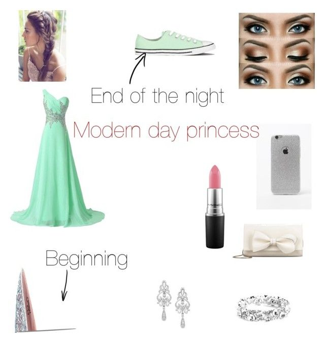 """""""Modern day princess"""" by mendesmusicforever on Polyvore featuring Lauren Lorraine, LA: Hearts, RED Valentino, MAC Cosmetics, Wrapped In Love, Converse, modern, women's clothing, women and female"""