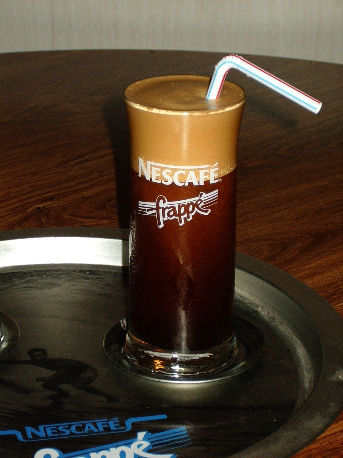 Frappé is a Greek foamcovered iced coffee drink made from