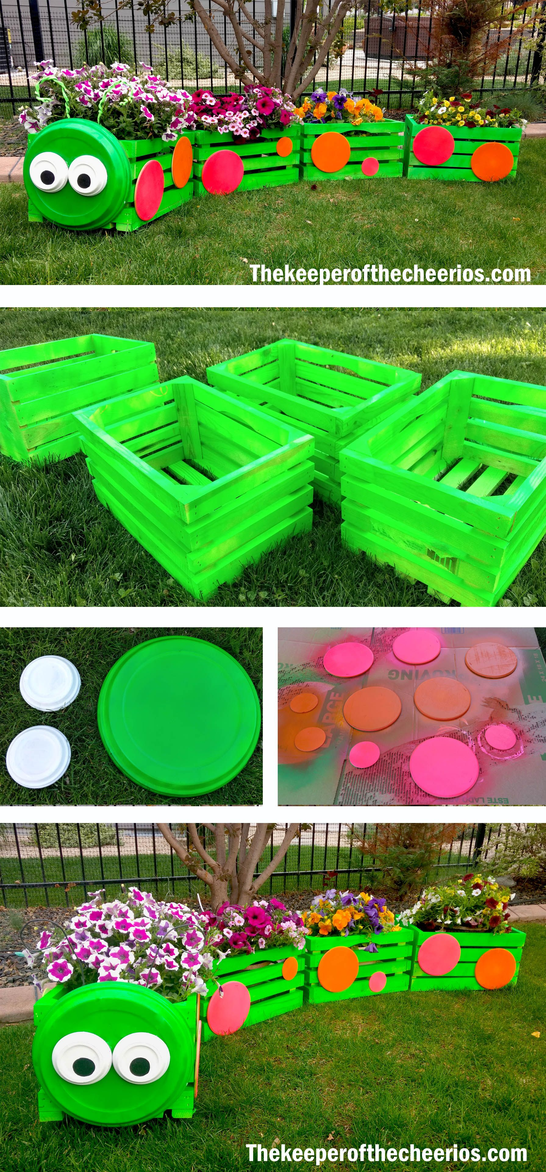 Caterpillar Crate Planter | дача | Pinterest | Crates, Planters and ...