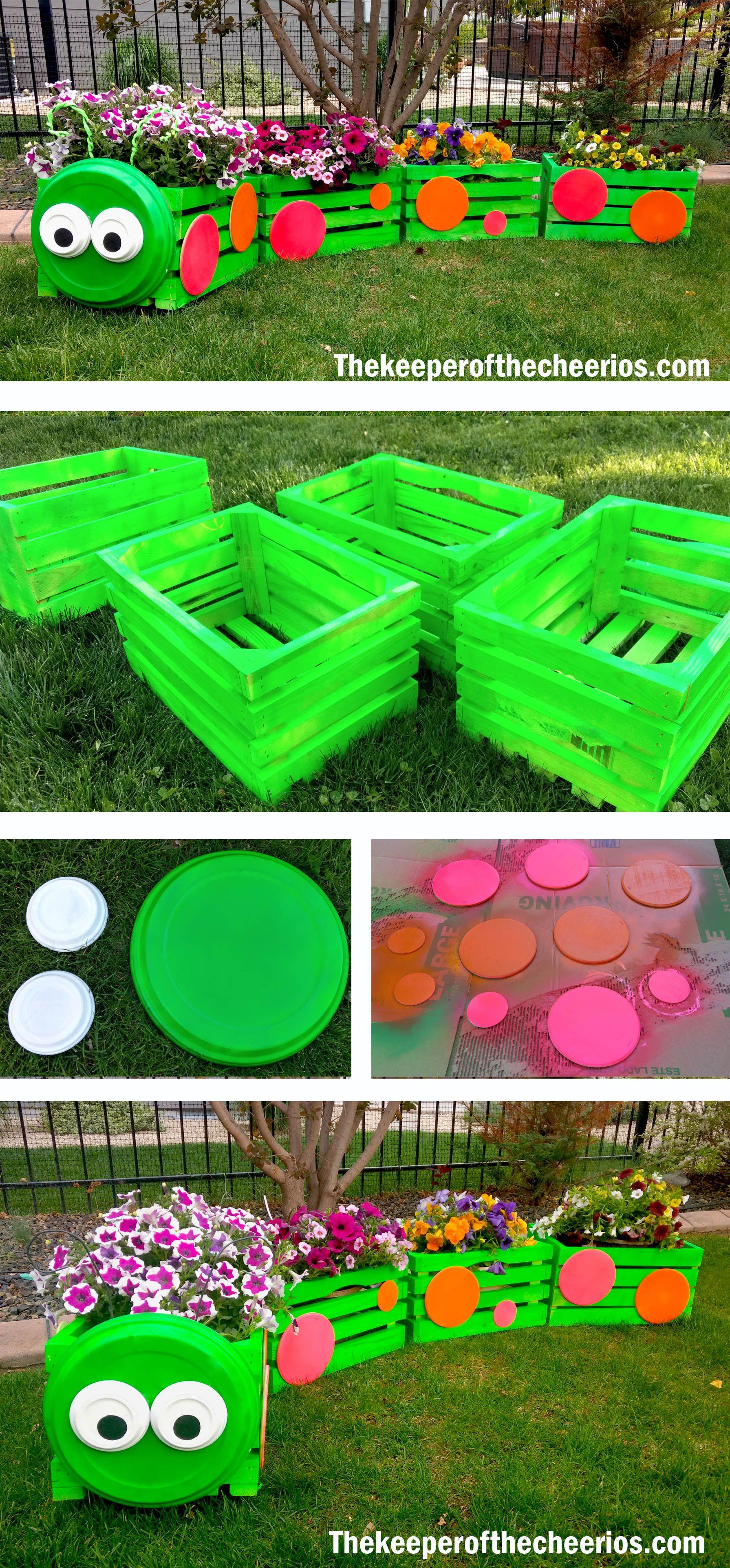 Caterpillar Crate Planter Caterpillar Crate Planter