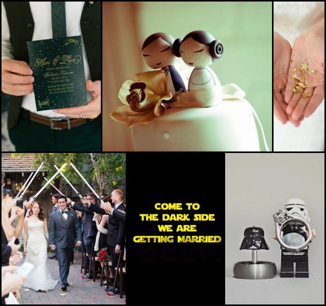 Moodboard for a #starwars themed #geek #wedding  http://www.wedyourlove.com/wedyourblog-en/star-wars-wedding/?lang=en