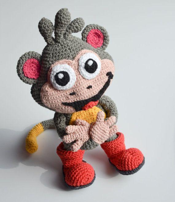 Crochet PATTERN Boots from Dora the explorer by Krawka door Krawka