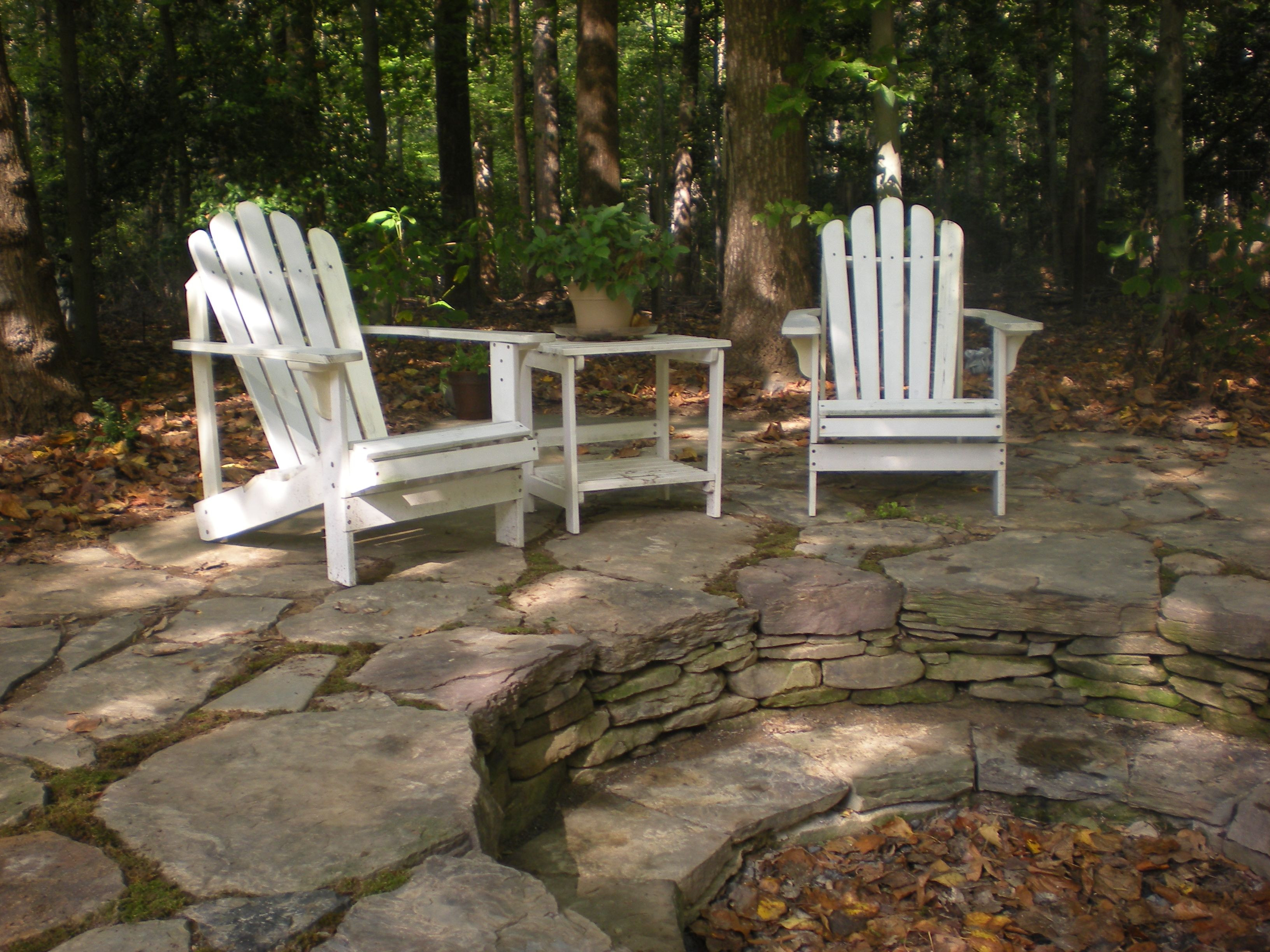 Rustic Firepit And Patio Designed By Mary Kirk Menefee Installed Merrifield Garden Center
