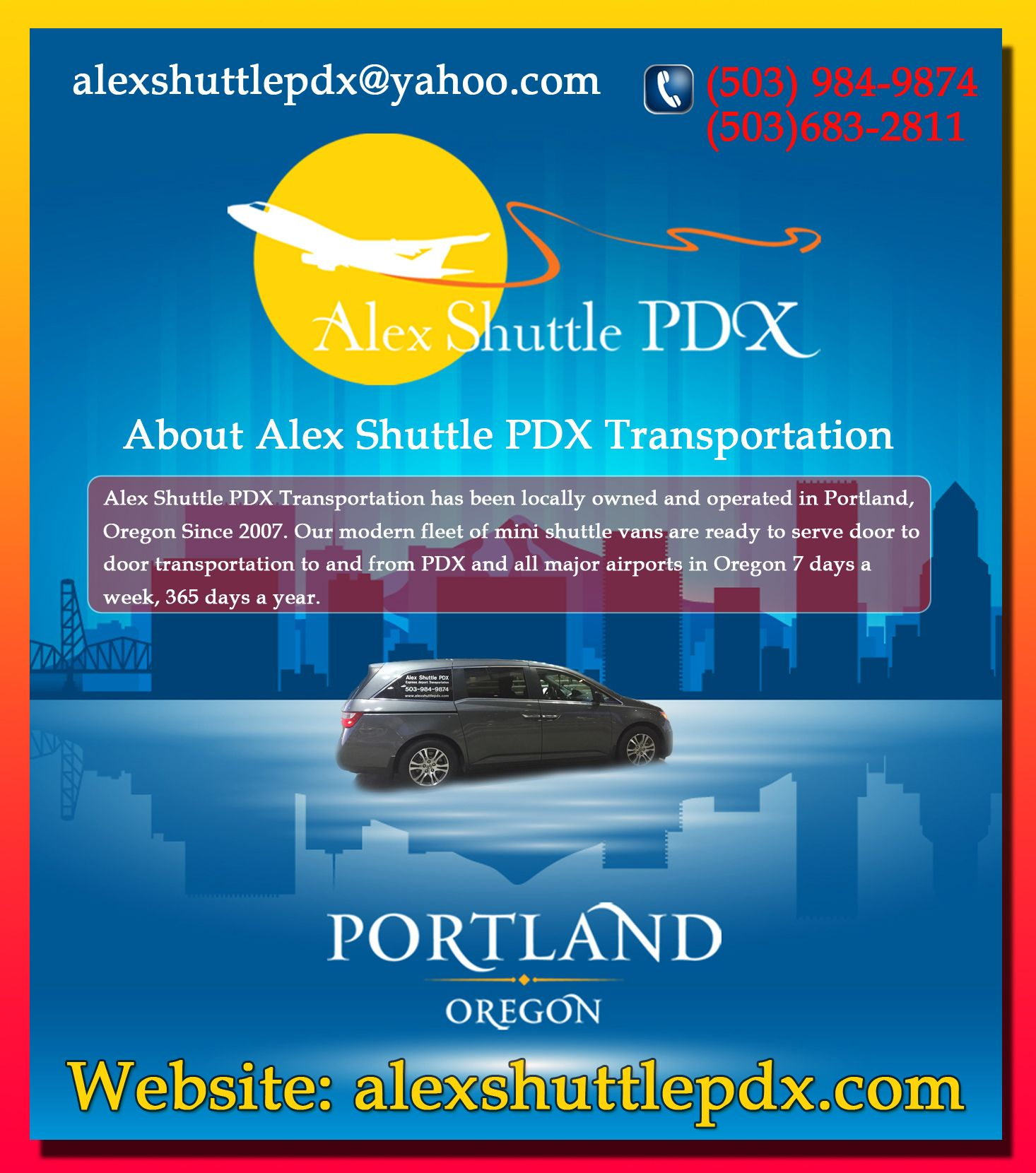 alex airport shuttle