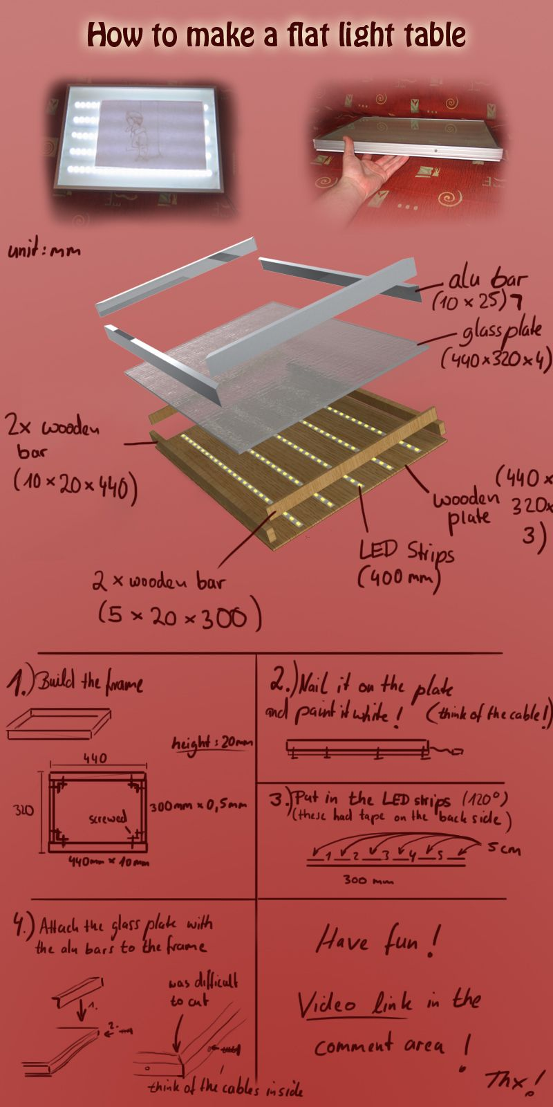 How To Make A Flat Light Table By Art4fun Kun Deviantart