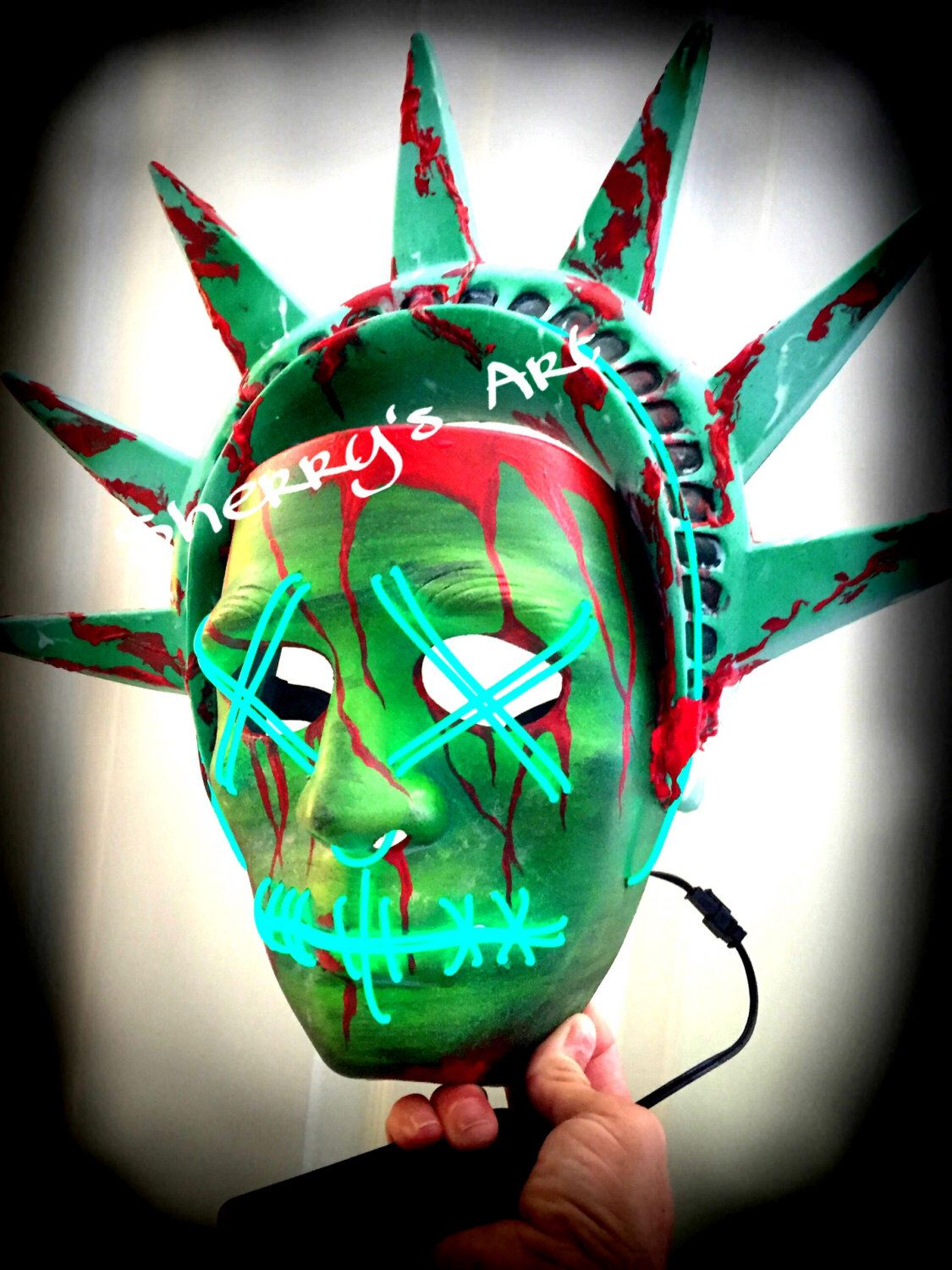 a personal favorite from my etsy shop httpswwwetsycomlisting451974796purge 3 mask the purge lady liberty 3