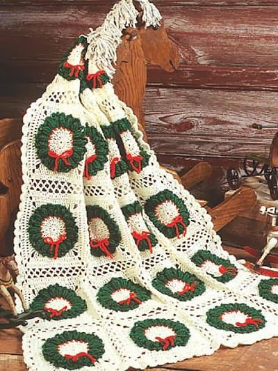 Christmas Crochet Blanket Free Pattern.Pin On Crochet Afghans