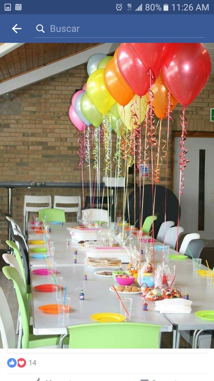 Party decor for birthday