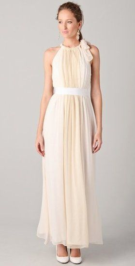 A perfect choice to beat the heat at a Summer wedding; this breezy silhouette is as pretty as it is functional.