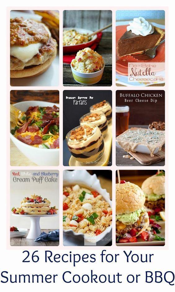 Summer BBQ Cookout Recipes