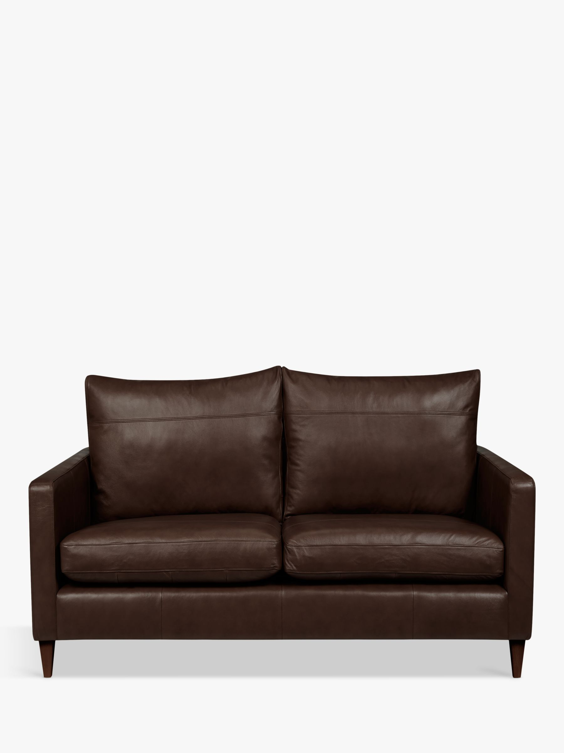 John Lewis Partners Bailey Leather Small 2 Seater Sofa Dark Leg Leather Sofa 2 Seater Sofa Sofa