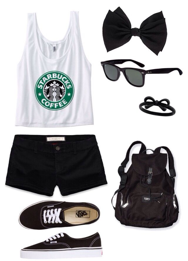 ♡Starbucks outfit♡ but converse instead of vans