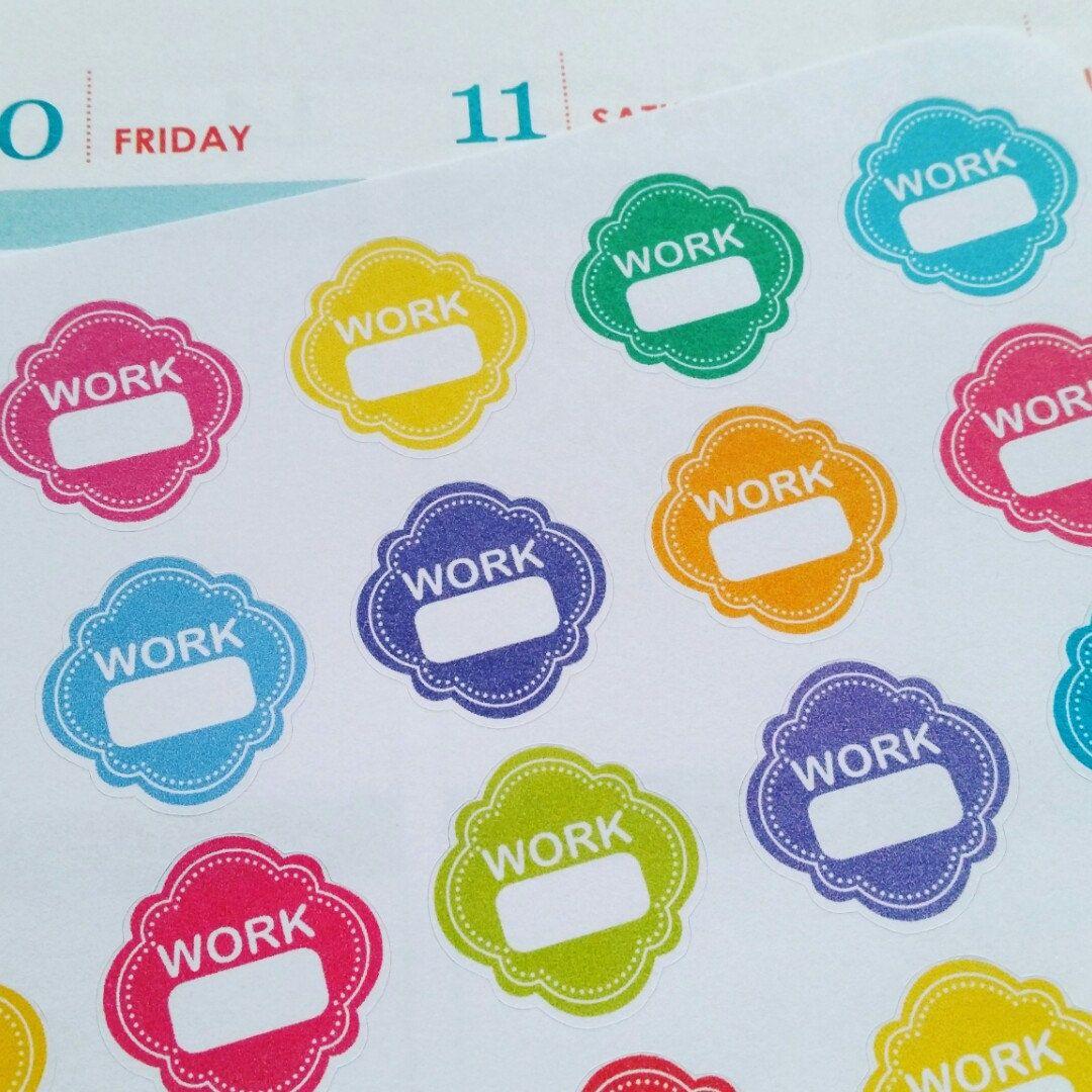 Work Stickers Planner Stickers Work Schedule Stickers