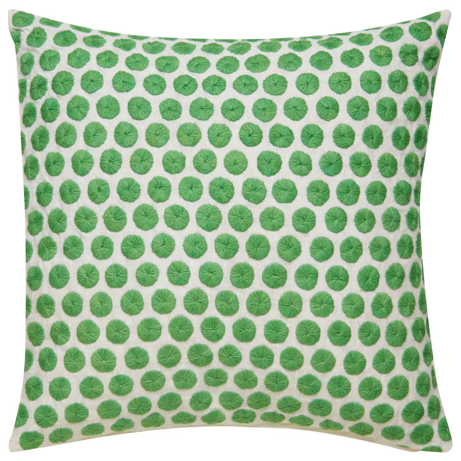 Kate Spade New York By Jaipur Yorkville Embroidered Dot Picnic Green Throw Pillow Green Throw Pillows Dot Pillow Green Accent Pillow