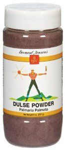 Bernard Jensen's Dulse Nova Scotia Powder - 8 oz by Bernard Jensen. $11.99. Bernard Jensen - Dulse Nova Scotia Powder - 8 OZ. Purple Dulse powder is a sea vegetable that is a natural source of essential vitamins, ions, sea salt, iodine and roughage. As a substitute for salt. Sprinkle on baked potatoes, Salads, etc. Combine with tomato juice, or other type broths and soups. A rich source of natural iodine. May also be used in cooking and baking.