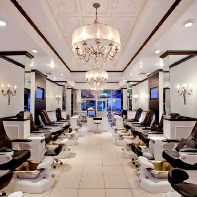 Fancy Manicure Salon Decoration: Latest Project: Posh Nail Spa, Dallas, TX