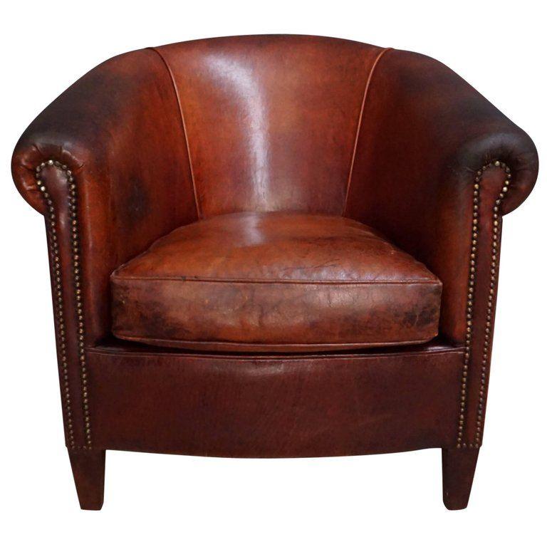 Best 1Stdibs Leather Vintage Cognac Industrial Dutch Club 400 x 300