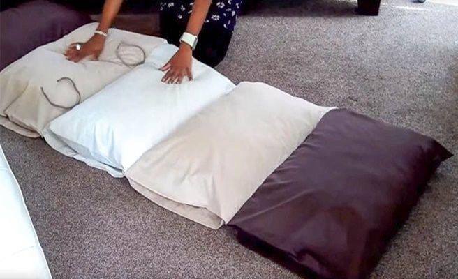 Best Diy Simple Roll Up Pillow Bed Floor Cushion Kids Floor 400 x 300