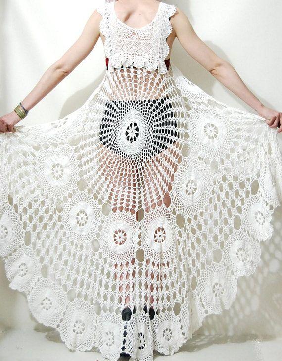 GALERA DEL SOL: Vestido a crochet precioso | CROCHET Vestidos ...