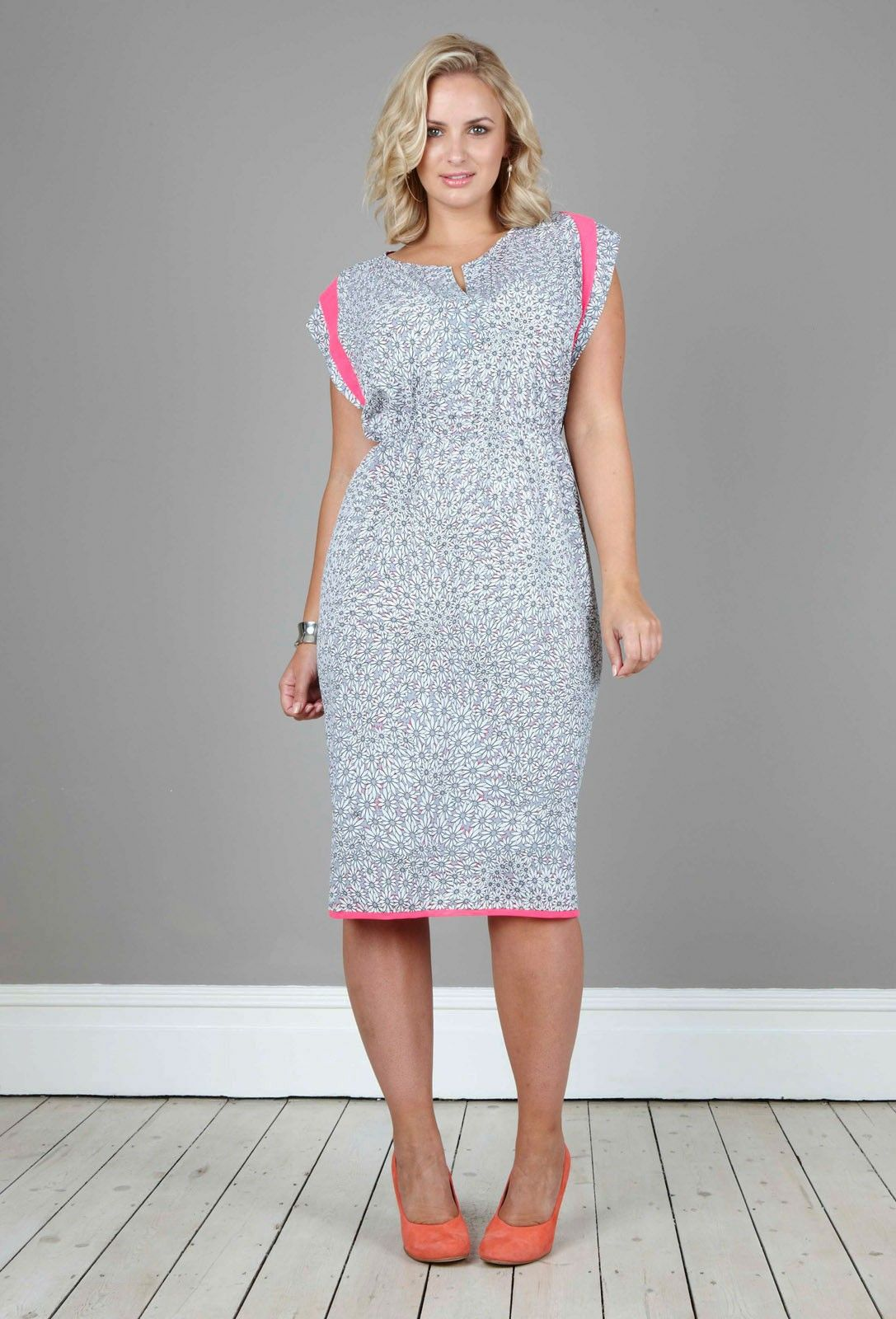 Anna Scholz - Daisy Contrast Shoulder Flap Dress