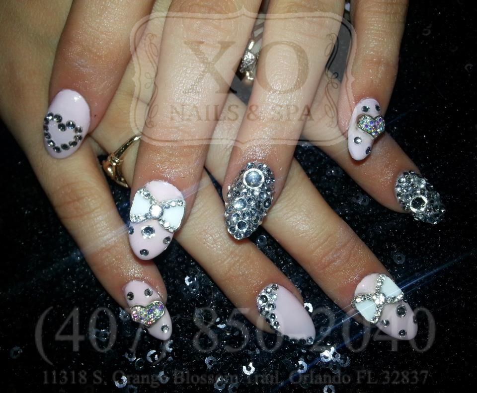 Diamonds Are A Girls Best Friend Nail Art Nail Design Pointy