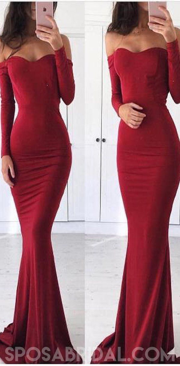 Long Red Mermaid Long Sleeves Elegant Simple Cheap Prom Dresses, Sexy Evening Dress, PD1168 - Prom dresses long with sleeves, Red long sleeve prom dress, Prom dresses with sleeves, Red graduation dress, Sexy evening dress, Long sleeve evening dresses - inch (end of arm) only used for one shoulder or off shoulder dress  4, Delivery time Rush order within 15 days, please add $30 00 from Extra Cost Collection  this cost is paid for prior shipping and sewers who would like to work extra time to finish this dress  Normal time Within 25 days (From May to Dec) Around 30 days (From Jan to April), it's busy season together with spring festival holiday, so produce time will be long  5, Packing in order to save your shipping cost, each dress will be packed tightly with water proof bag   6, Shipping by UPS or DHL or some special airline  7, Payment Paypal, bank transfer, western union, money gram and so on  8, Return Policy We will accept returns if dresses have quality problems, wrong delivery time, we also hold the right to refuse any unreasonable returns, such as wrong size you gave us or standard size which we made right, but we offer free modify  Please see following for the list of quality issues that are fully refundable for Wrong Size, Wrong Color, Wrong style, Damaged dress 100% Refund or remake one or return 50% payment to you, you keep the dress  In order for your return or exchange to be accepted, please carefully follow our guide 1  Contact us within 2 days of receiving the dress (please let us know if you have some exceptional case in advance) 2  Provide us with photos of the dress, to show evidence of damage or bad quality, this also applies for the size, or incorrect style and colour etc long sleeve backless dresses 3  The returned item must be in perfect condition (as new), you can try the dress on, but be sure not to stretch it or make any dirty marks, otherwise it will not be accepted  4  The tracking number of the returned item must be provided together with the reference code issued  5  If you prefer to exchange dresses, then a price difference will be charged if more expensive  6  You are required to pay for the shipping fee to return or exchange the dress  7  When you return the package to us, please pay attention to the following points, if not, customers should pay for the duty we put all of our energy and mind into each dress, each of our dress are full of love, our long experience and skilled craftsmanship keep less return rate till now, but if there are our problems, we could return all your payment, for more details, please see our FAQ  9, Custom taxes Except Unite States, most buyers need to pay customs taxes, in order to save cost for you, we have marked around $3040 00 on the invoice, then you just pay less taxes, please note that it's express help customs collect this payment, it is not shipping cost, as shipping cost has already paid before sending  Our advantage We do long time dresses for some famous brands, we also make dresses for designers in European and USA client, please trust us, our strong team could make sure each dress will be your dream dresses  Long Red Mermaid Long Sleeves Elegant Simple Cheap Prom Dresses, Sexy Evening Dress, PD1168