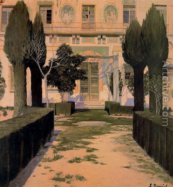 Jardin Del Palacio De Viznar Santiago Rusinol I Prats