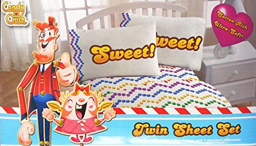 King Candy Crush Sheet Set Twin ** Click affiliate link Amazon.com on image for more details.