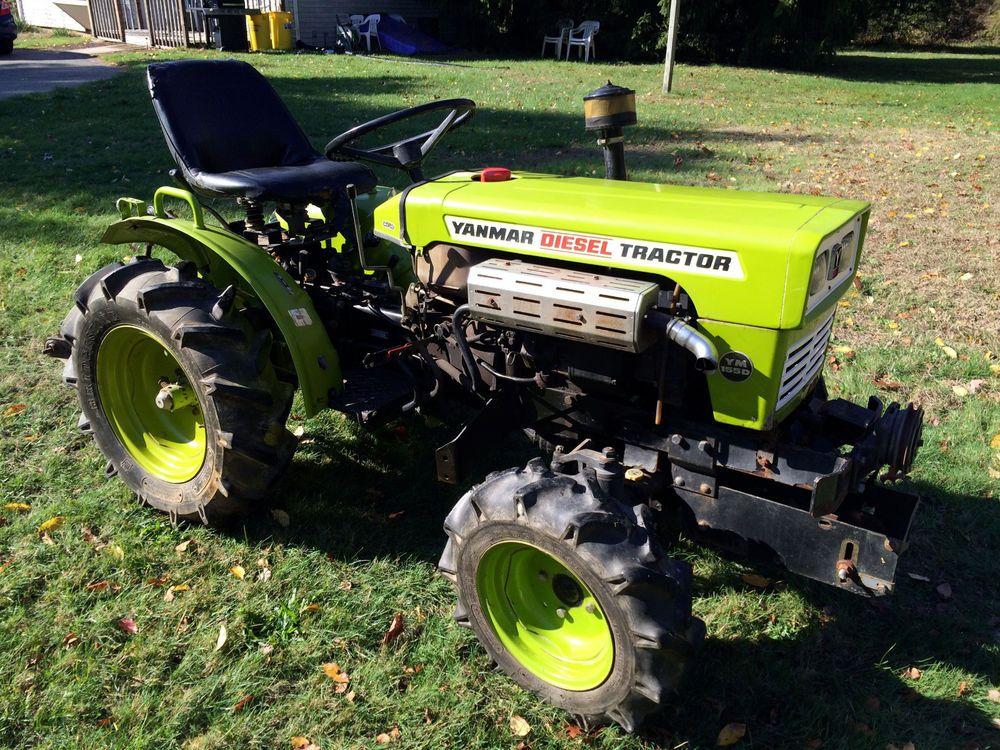 Antique Yanmar Tractors : Yanmar ym d hp diesel tractor wd w mower decks