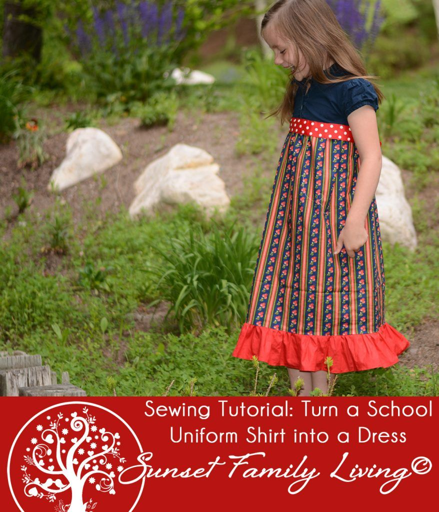 Sewing tutorial turn an old school uniform shirt into a summer sewing tutorial turn an old school uniform shirt into a summer dress jeuxipadfo Images