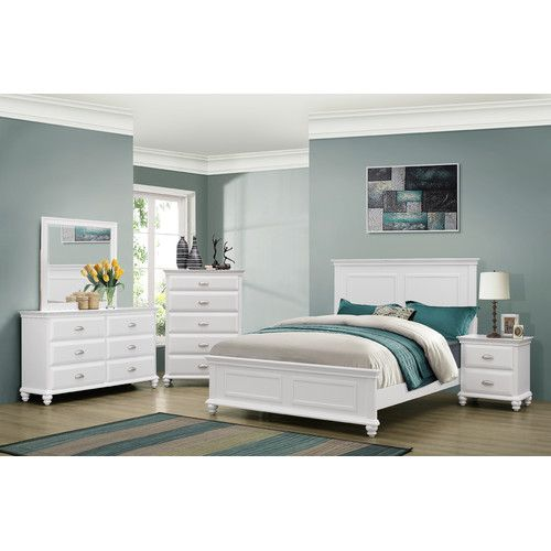 Found It At Wayfair Corinth Panel Customizable Bedroom Set By Sim White Wood Bedroom Furniture Distressed White Bedroom Furniture Wood Bedroom Furniture Sets