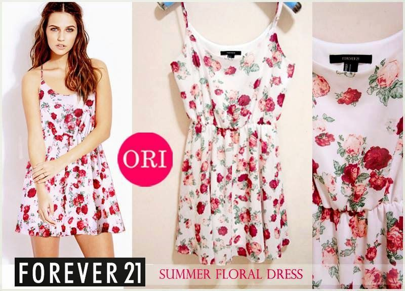let's shop here : FOREVER 21 SUMMER FLORAL DRESS *ORI