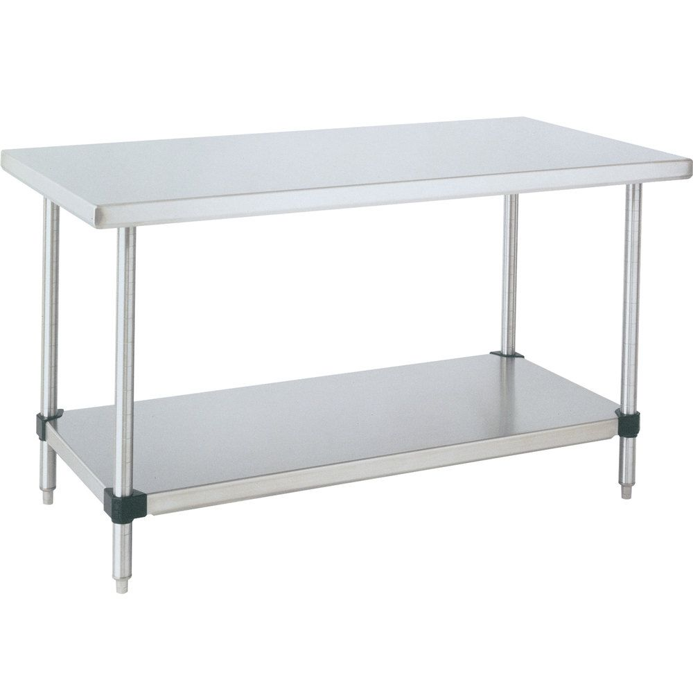 14 Gauge Metro Wt307fc 30 X 72 Hd Super Stainless Steel Work Table With Galvanized Undershelf Stainless Steel Work Table Stainless Steel Kitchen Table Kitchen Work Tables