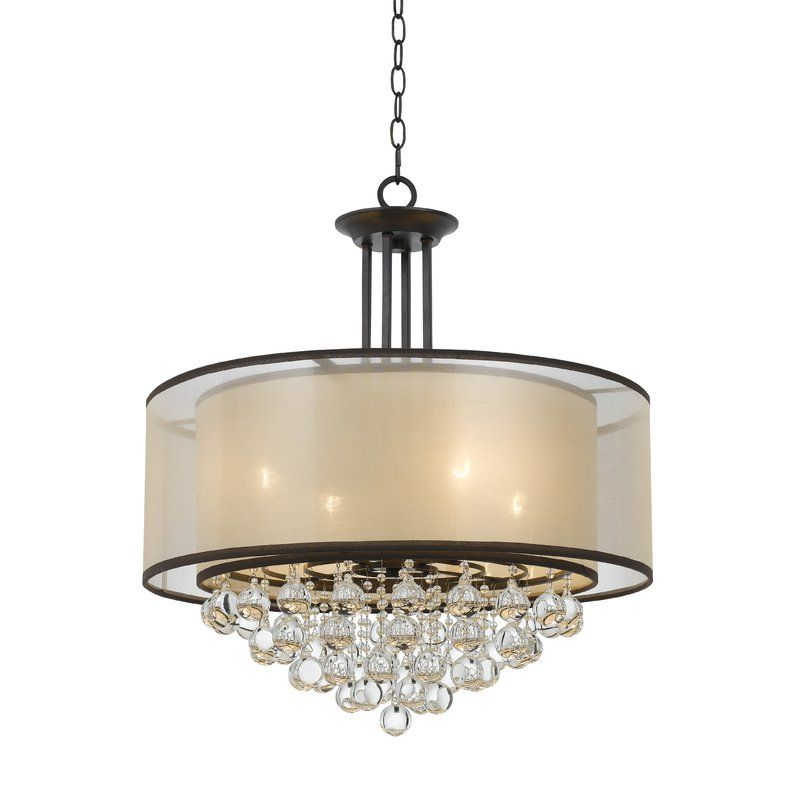 Rosdorf park weaver double shade 4 light drum chandelier reviews wayfair