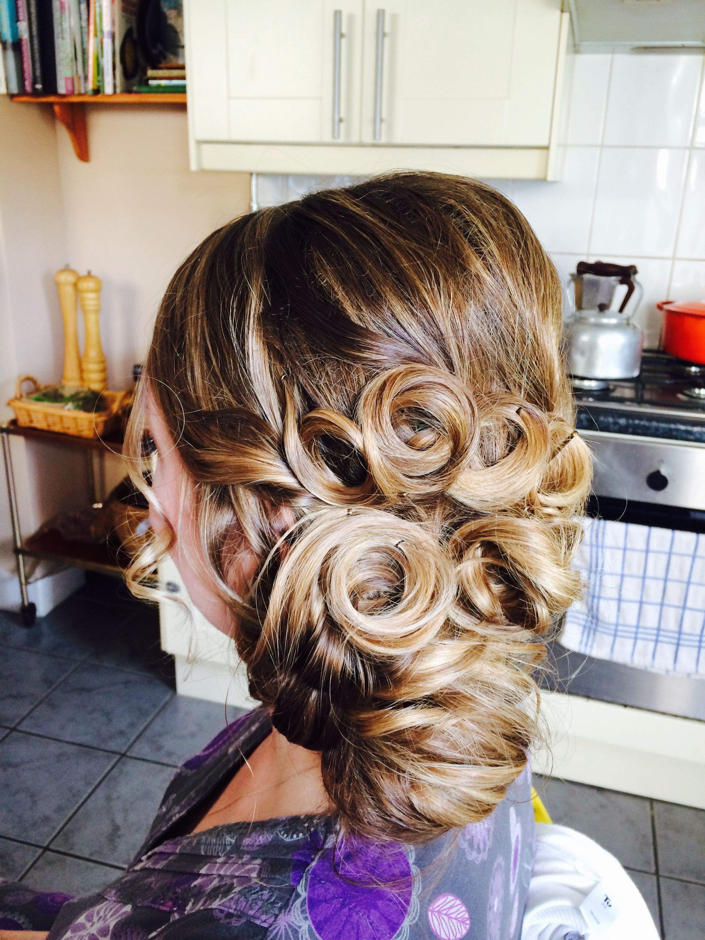 Another of our brides at her wedding trial