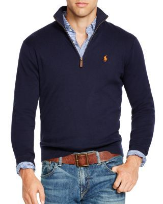 b32d92288f10b5 POLO RALPH LAUREN Zip Pima Sweater.  poloralphlauren  cloth  sweater ...