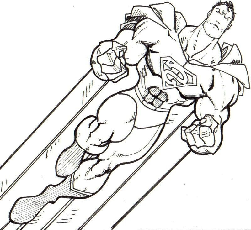 Strong Superman Superman Coloring Pages